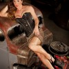Pinup, model, hot rod