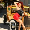 Pinup, pin-up, hot rod, rat rod